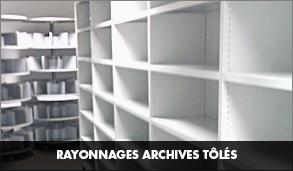 Rayonnage archive tôlé